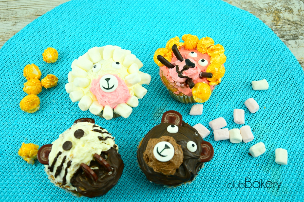 CUPCAKES ANIMALITOS